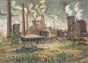 Roman SZCZERZYŃSKI (1908 - 1985), Cementownia Goleszów, 1950
