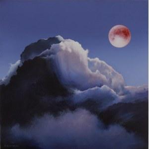 Henryk LASKOWSKI ur. 1951, Czerwony księżyc, 2019