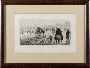 Jasiński Feliks Stanisław (1862 - 1901), Nowy Zjazd w Warszawie (wg obrazu Józefa Ryszkiewicza), 1893