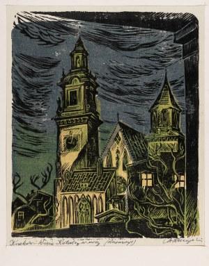 Raczyński Stanisław, Kraków. Wieże katedry w nocy, lata 50. XX w.