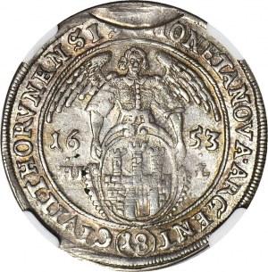 R-, Jan Kazimierz, Ort 1653, Toruń, MENNICZY, PIĘKNY