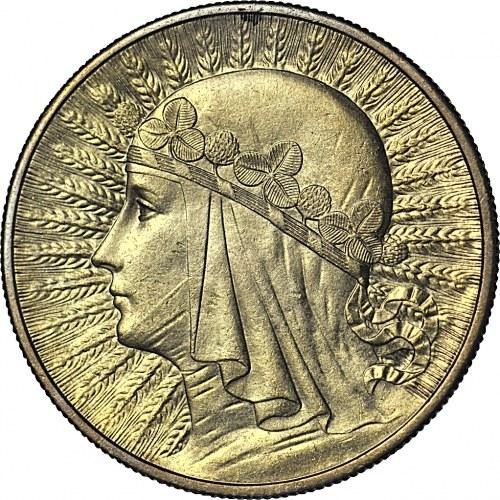 10 złotych 1932, Głowa, Londyn, mennicza