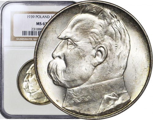 10 złotych 1939, Piłsudski, wspaniały