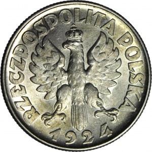 2 złote 1924, Żniwiarka, odwrotka (Filadelfia), WYŚMIENITA