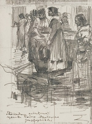 Teodor AXENTOWICZ (1859-1938), Scena rodzajowa