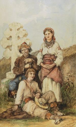 Tadeusz RYBKOWSKI (1848-1926), Pod krzyżem, 1880