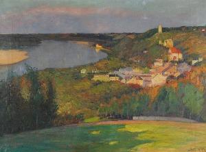 Abraham BEHRMANN (1876-1942), Kazimierz Dolny. Panorama miasta
