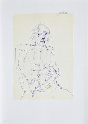 Roman Banaszewski (Ur. 1932), Szkic kobiety siedzącej na krześle