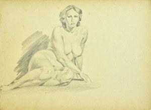 Ludwik Antoni Maciąg (1920-2007), Studium aktu siedzącej kobiety