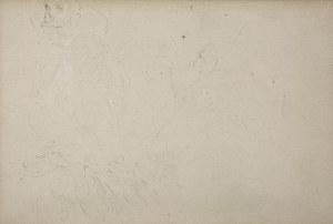 Jacek Malczewski (1854-1929), Szkic głowy męskiej i sceny batalistycznej