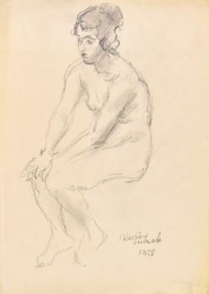 Kasper Pochwalski (1899-1971), Akt siedzącej kobiety, 1958