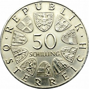 Austria, 50 schilling 1968 - 50 years of the Republic