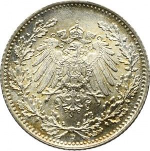 Niemcy, 1/2 marki 1918 D