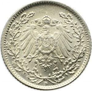 Niemcy, 1/2 marki 1917 D