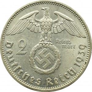 III Rzesza, 2 marki 1939 A Hindenburg