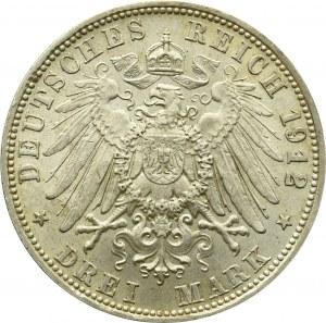 Niemcy, Bawaria, 3 marki 1912