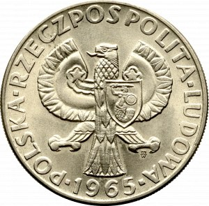 Peoples Republic of Poland, 10 zloty 1965 VII centuries of Warsaw - Specimen CuNi