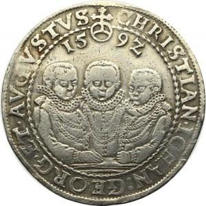 Germany, Saxony, Christian II, Johann Georg I, August, Thlaer 1592