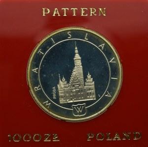 PRL, 1.000 złotych 1987 Wrocław - Próba Ni