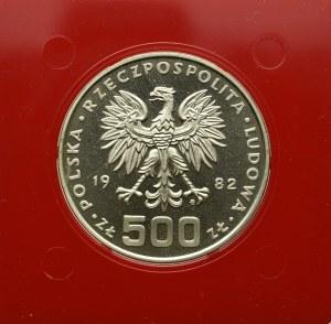 PRL, 500 złotych 1982 Dar Pomorza - Próba Ag