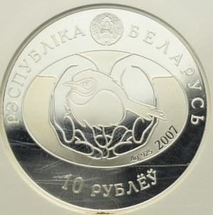 Belarus, 10 roubles 2007 Nightingale
