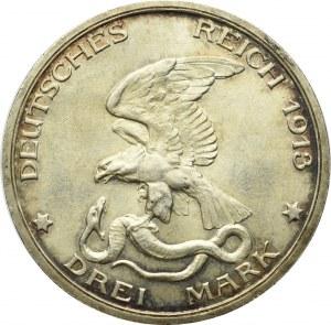 Germany, Pruessen, 3 mark 1913