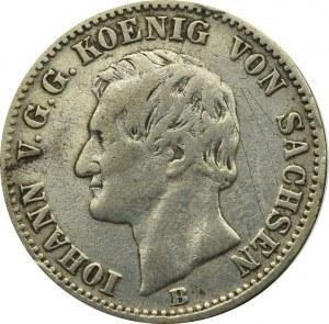 Niemcy, Saksonia, 1/6 talara 1860