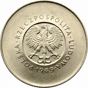 Peoples Republic of Poland, 10 zloty 1969 25 years of the Republic
