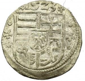 Węgry, Ludwik II Jagiellończyk, denar 1523