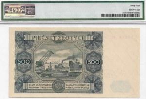 PRL, 500 złotych 1947 P4 - PMG 64