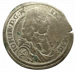 Germany, Brandenburg-Ansbach, Johann Friedrich, 1/6 thaler 1677