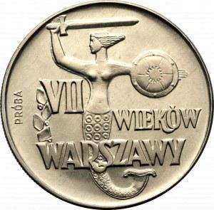 PRL, 10 złotych 1965 VII wieków Warszawy - Próba CuNi
