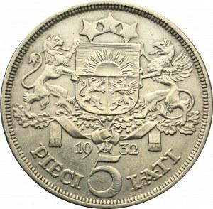 Łotwa, 5 łatów 1932