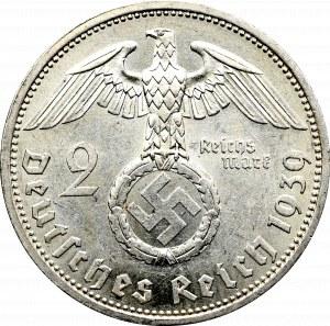 III Rzesza, 2 marki 1939 Hindenburg A