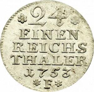 Germany, Preussen, 1/24 thaler 1753