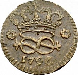 Italy, Sardinia, 2 denarii 1796