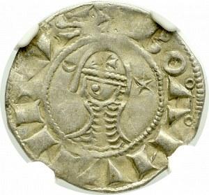 Crusaders, Antiochia, Bohemond III, Denarius - NGC VF Details
