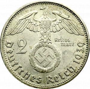 III Rzesza, 2 marki 1939 Hindenburg G
