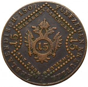 Austria, Franz Joseph, 15 kreuzer 1807