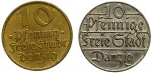 Free City of Danzig, set 2 x 10 pfennige