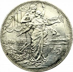 Italy, 5 lira 1911
