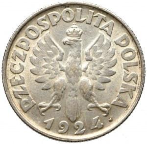 II Rzeczpospolita, 2 złote 1924 (lit. H), Birmingham Kobieta i kłosy