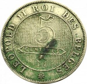 Belgia, 5 centimów 1894