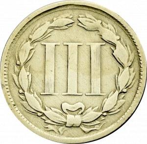 USA, 3 centy 1865