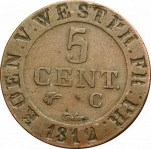 Niemcy, Westfalia, 5 centimów 1812