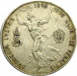 Austro-Węgry, 5 koron 1908