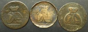 Rosja, Katarzyna II, 2 para=3 kopiejki 1773-1774