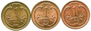 Austria, zestaw 1 heller 1912 - 1916 (3 egzemplarze)