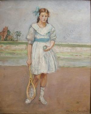 Wlastimil Hofman (1881-1970), Młoda tenisistka (1918)