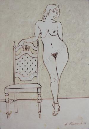 Henryk Płóciennik, Akt z krzesłem (1986)